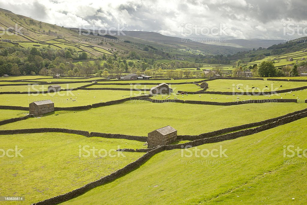 Storm Approaching Swaledale stock photo
