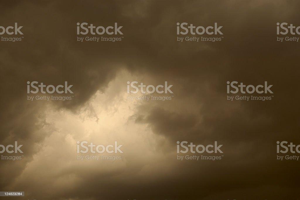 Storm at Dusk royalty-free stock photo