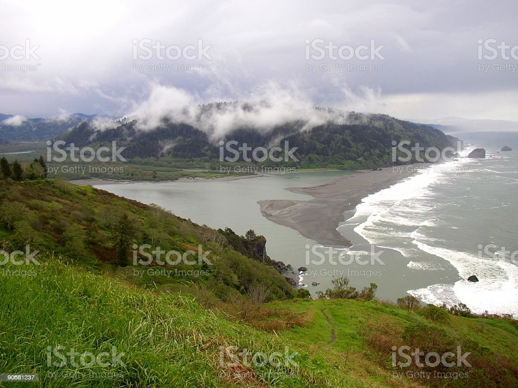 Storm at rivers mouth royalty-free stock photo