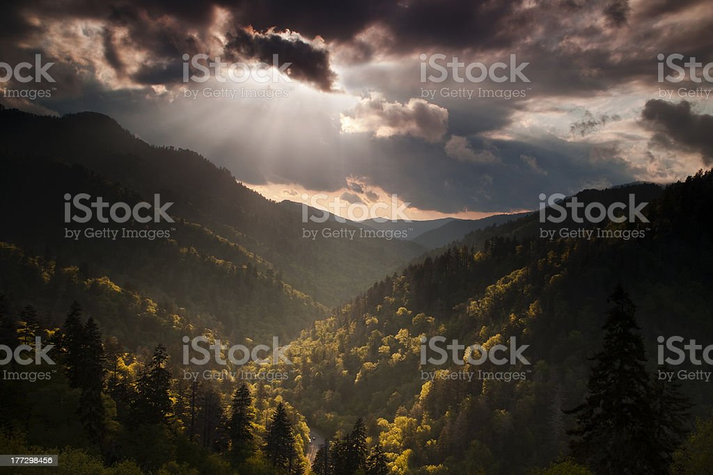 Storm Breaking at Dusk royalty-free stock photo