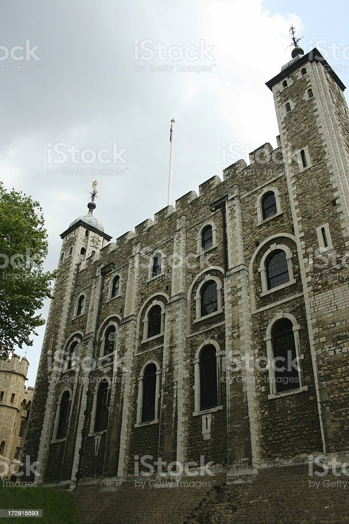 Storm brewing over White Tower stock photo