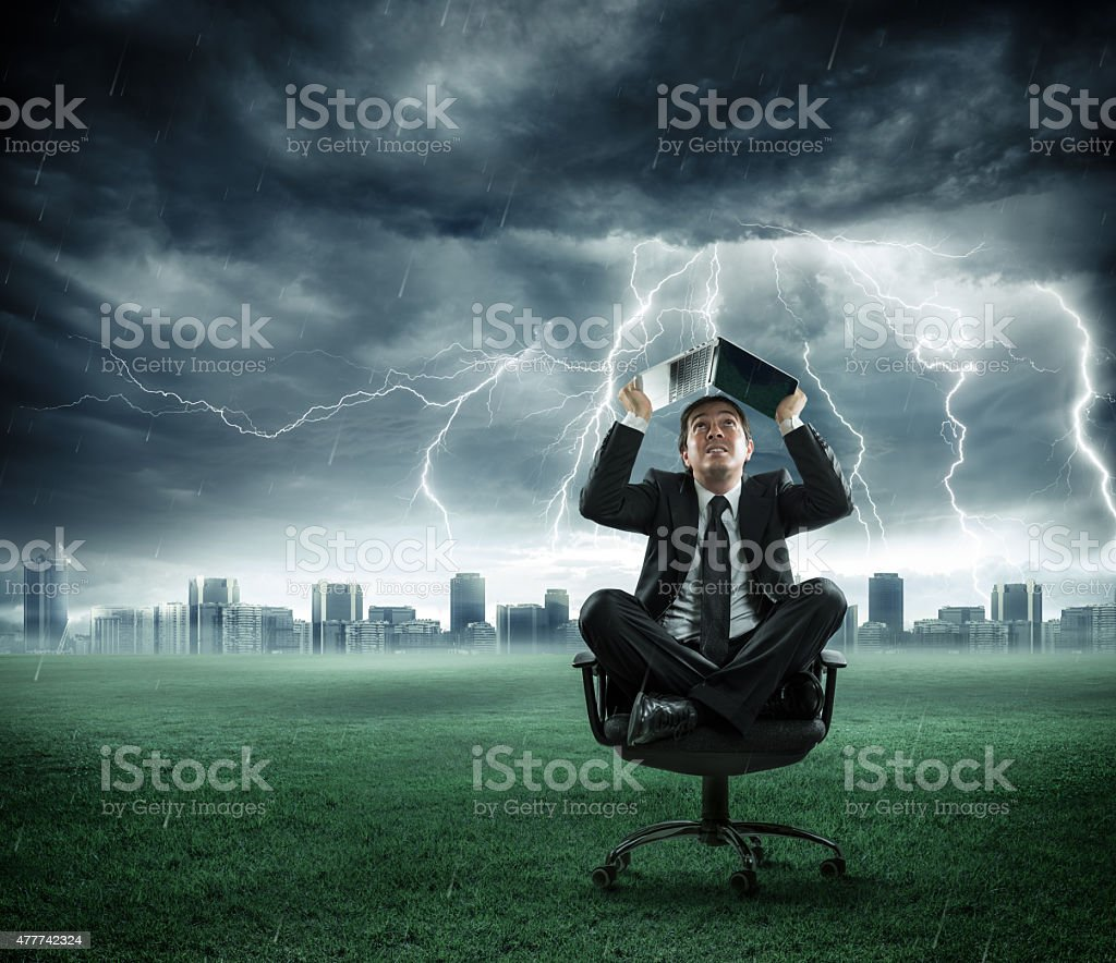 storm - business in crisis stock photo