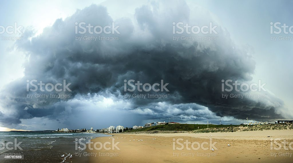 Storm cell - Cronulla beach stock photo