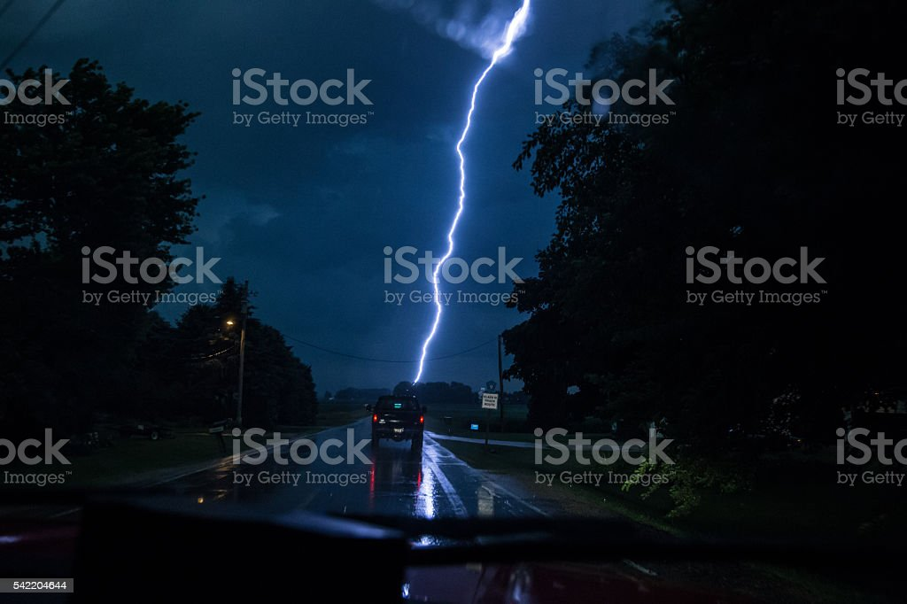 Storm Chase stock photo