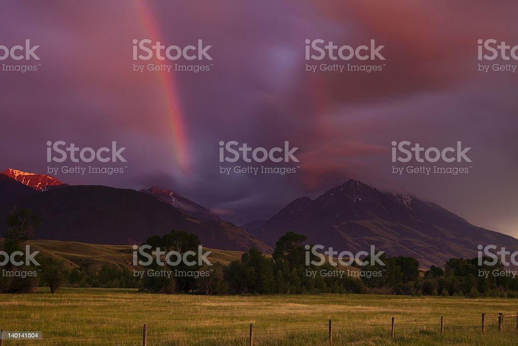 Storm Clearing in the Mountains royalty-free stock photo