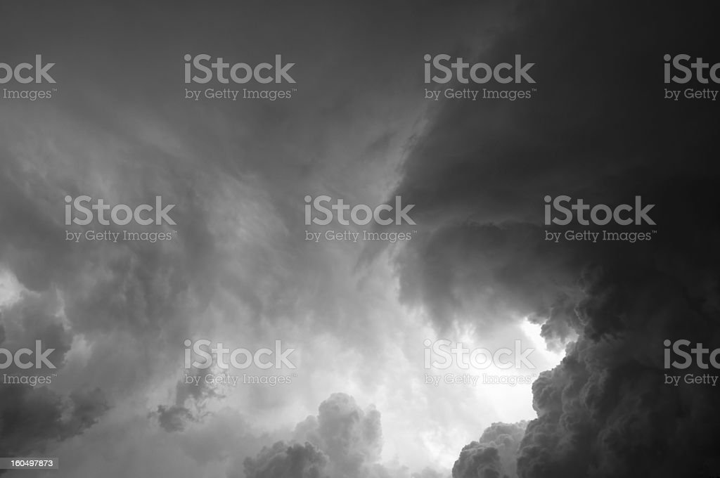 Storm cloud royalty-free stock photo
