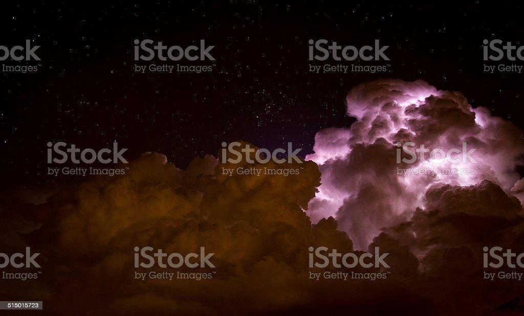 Storm cloud stock photo