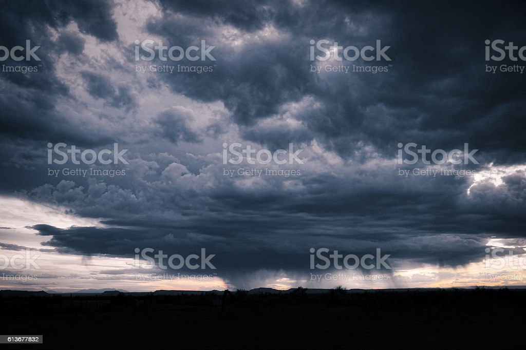 Storm Clouds and Downpour stock photo