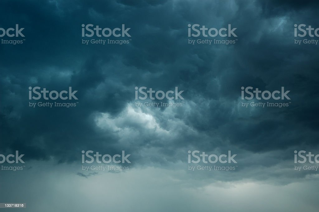 Storm Clouds and Rain stock photo