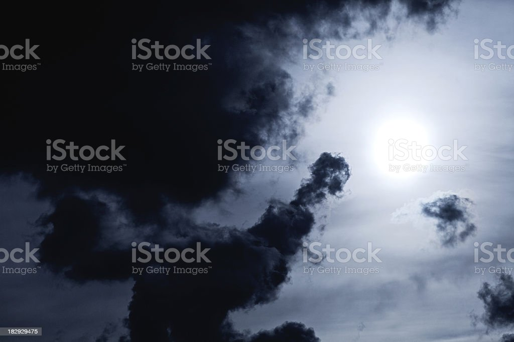 Storm Clouds and Sun royalty-free stock photo