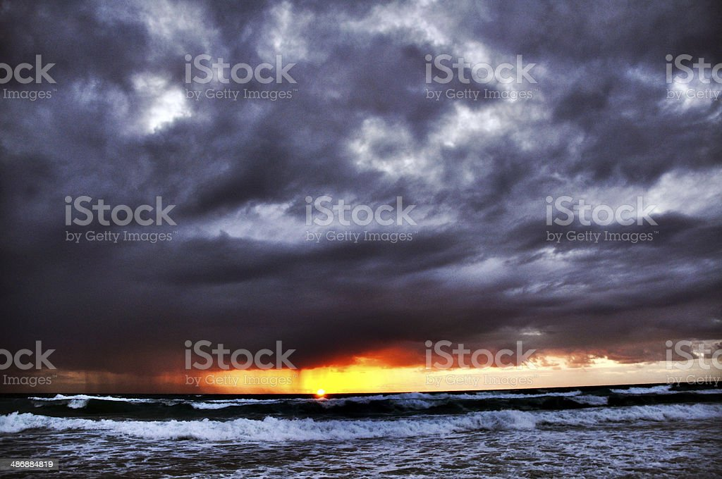 Storm clouds and sunrise royalty-free stock photo