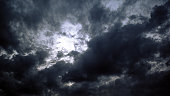 Storm clouds at dusk