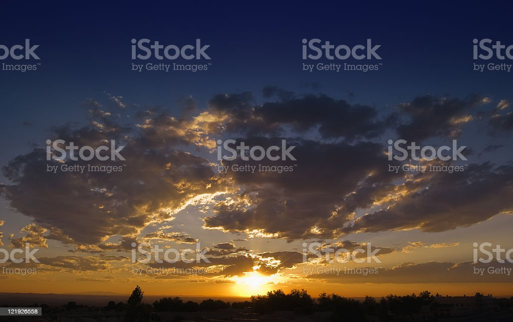 Storm Clouds at Sunset royalty-free stock photo