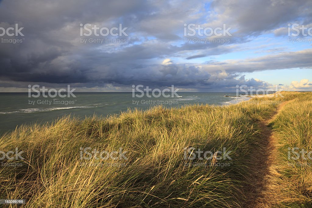 Storm clouds at the Danish west coast stock photo