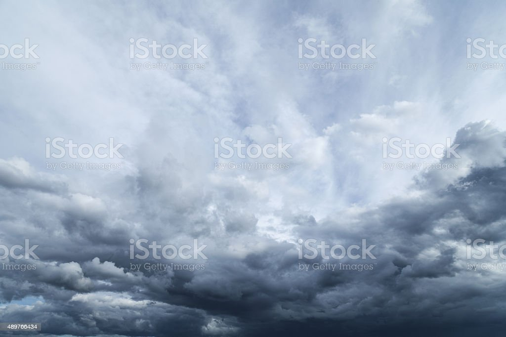 Storm clouds. Dramatic moody sky. stock photo
