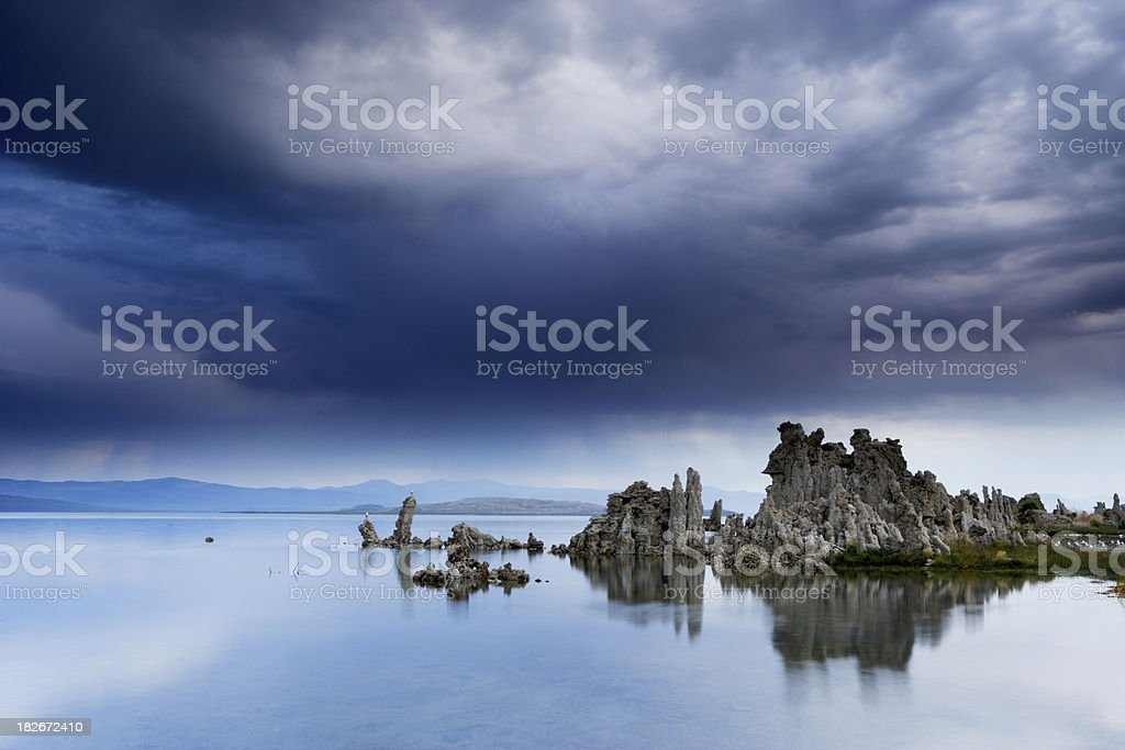 Storm Clouds Form Over Mono Lake royalty-free stock photo
