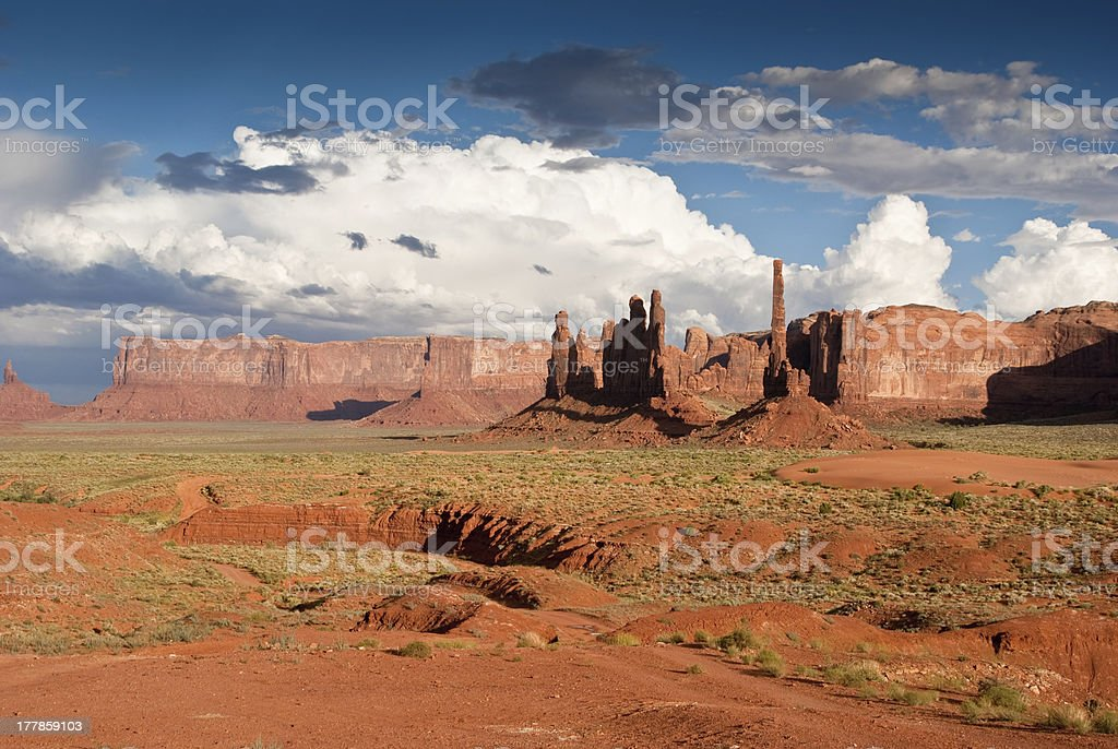 Storm clouds gather over Monument Valley royalty-free stock photo