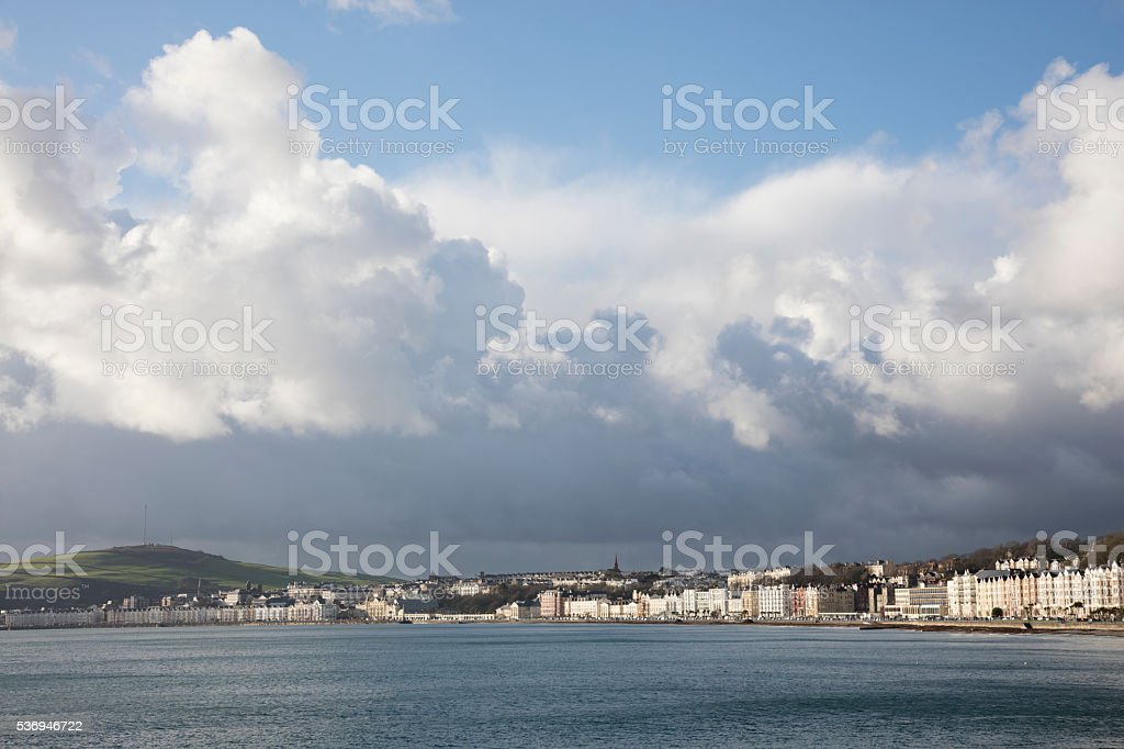 Storm clouds of Isle of Man stock photo