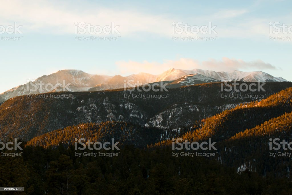 Storm Clouds on Pikes Peak stock photo
