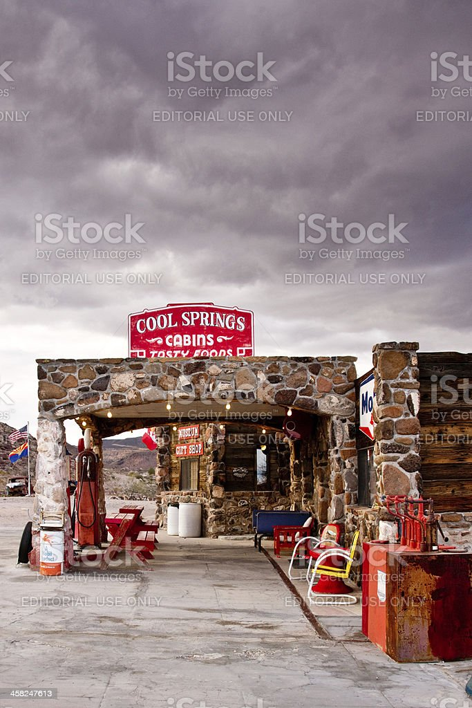 Storm Clouds on Route 66 royalty-free stock photo