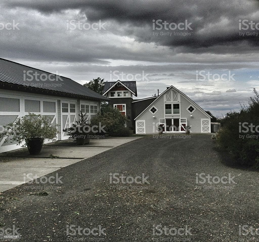 Storm Clouds Over Barn royalty-free stock photo