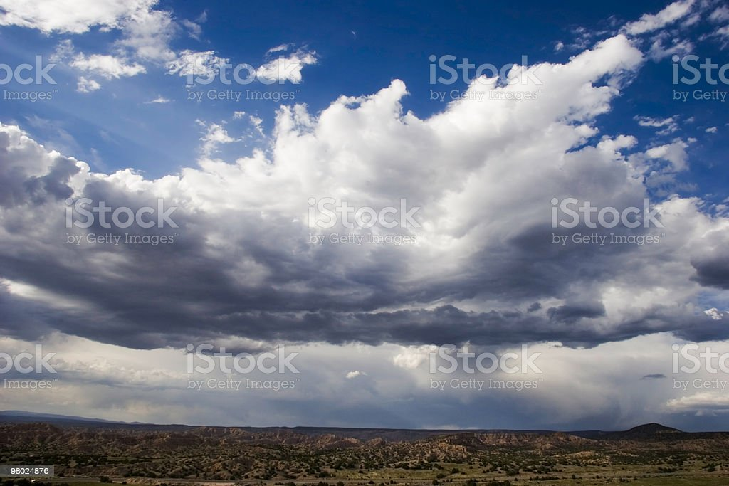 Storm Clouds Over Desert royalty-free stock photo