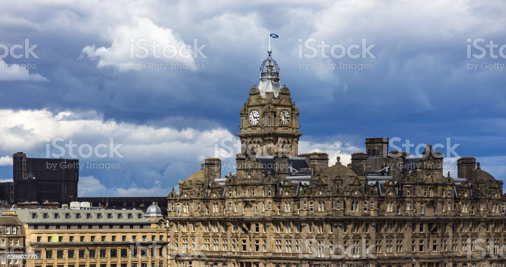 Storm Clouds Over Edinburgh stock photo