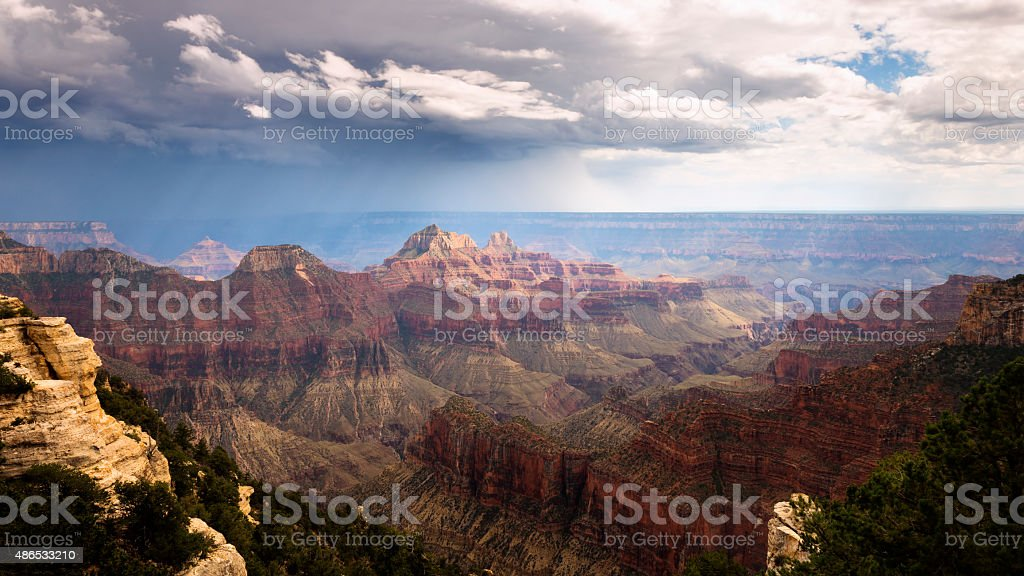 Storm Clouds over Grand Canyon stock photo