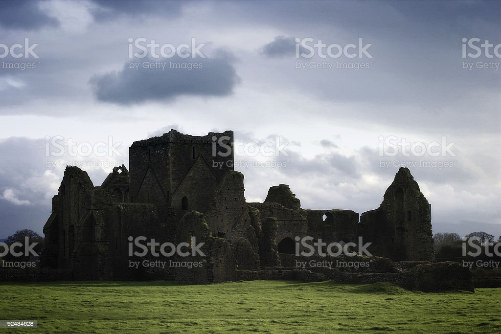 Storm Clouds Over Ireland Castle royalty-free stock photo
