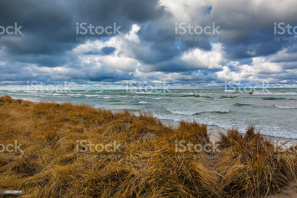 Storm Clouds Over Lake Huron - Ontario, Canada stock photo