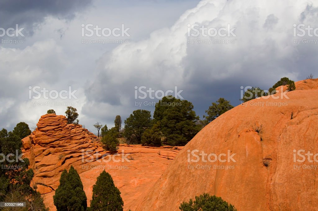Storm Clouds Over Red Rock Canyon stock photo