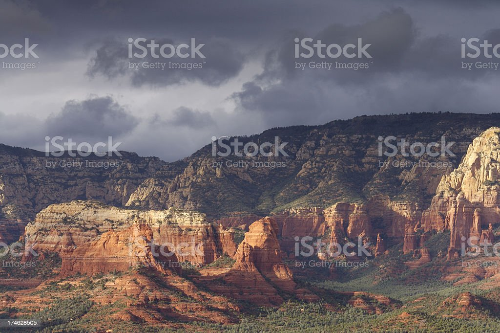 Storm clouds over Sedona stock photo