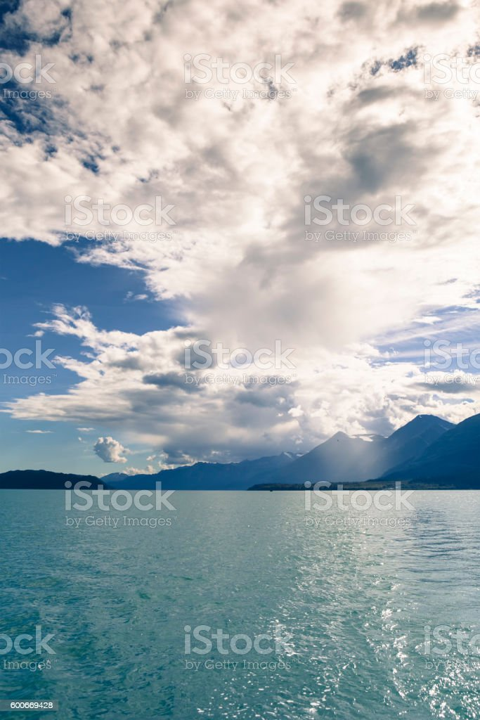 Storm clouds over the Lynn Canal stock photo