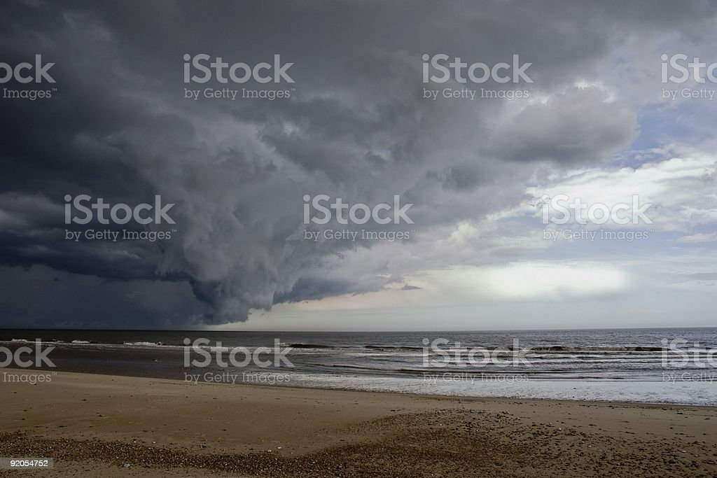 Storm clouds over the north sea royalty-free stock photo