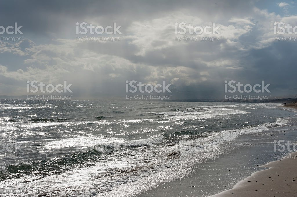 storm clouds over the sea royalty-free stock photo