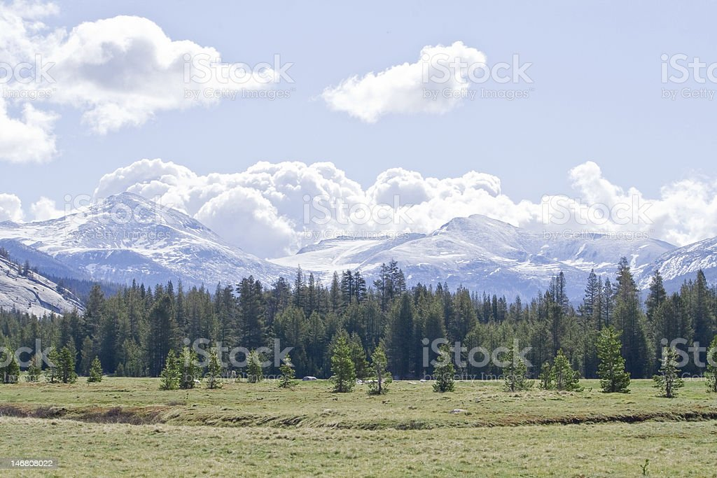 Storm Clouds over Tuolumne Meadows royalty-free stock photo