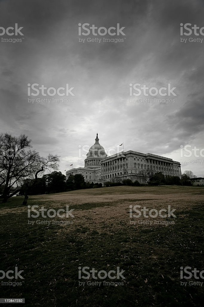 Storm Clouds Over Washington stock photo