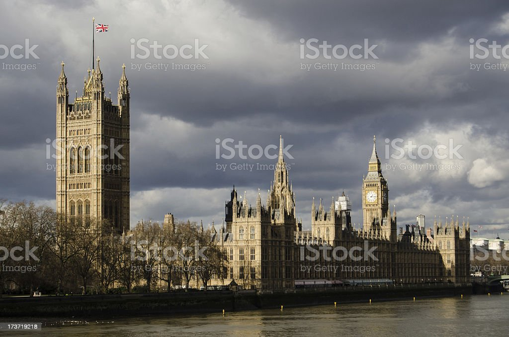 Storm Clouds over Westminster royalty-free stock photo