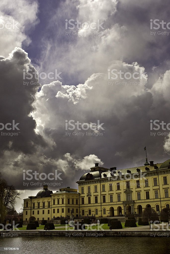 Storm clouds stock photo