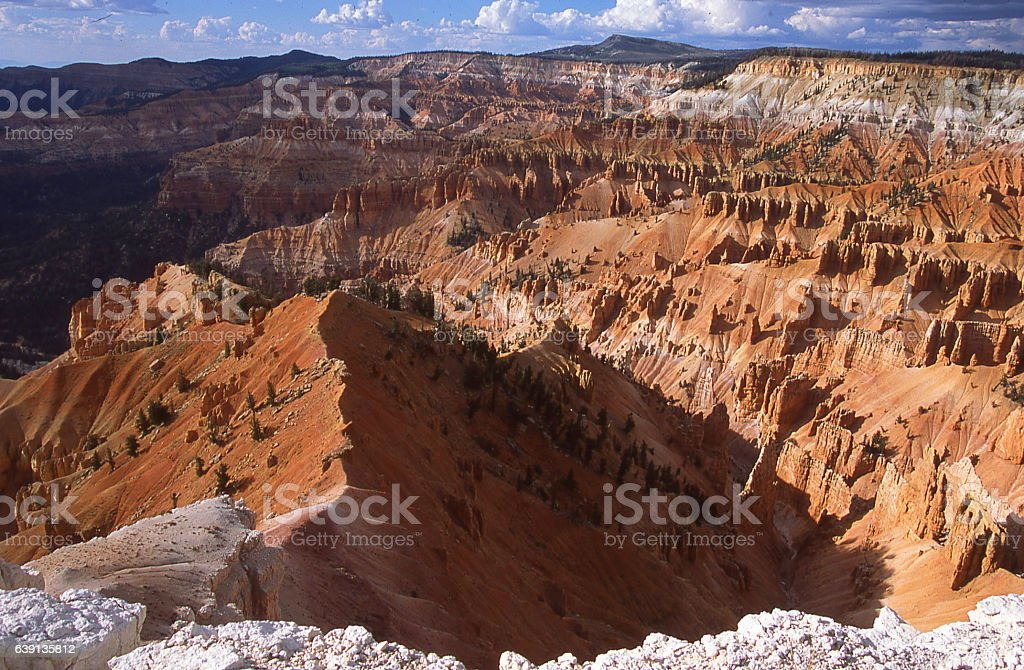 Storm clouds Supreme Point Overlook Cedar Breaks National Monument Utah stock photo