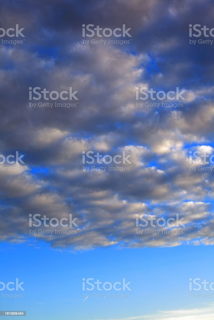 Storm clouds. The sky a background. royalty-free stock photo