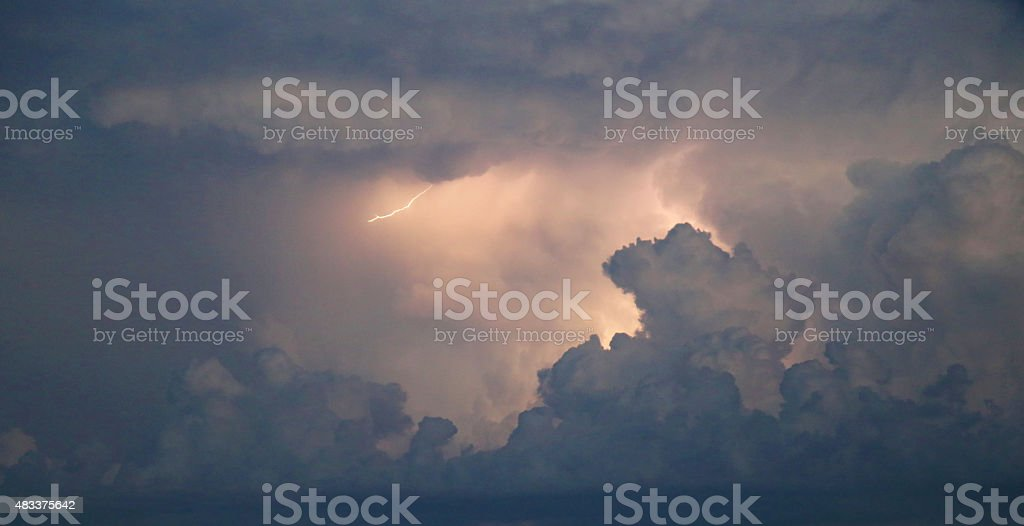 Storm Clouds with Thunder stock photo