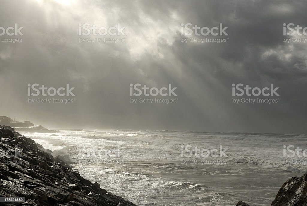 storm coming over sea royalty-free stock photo