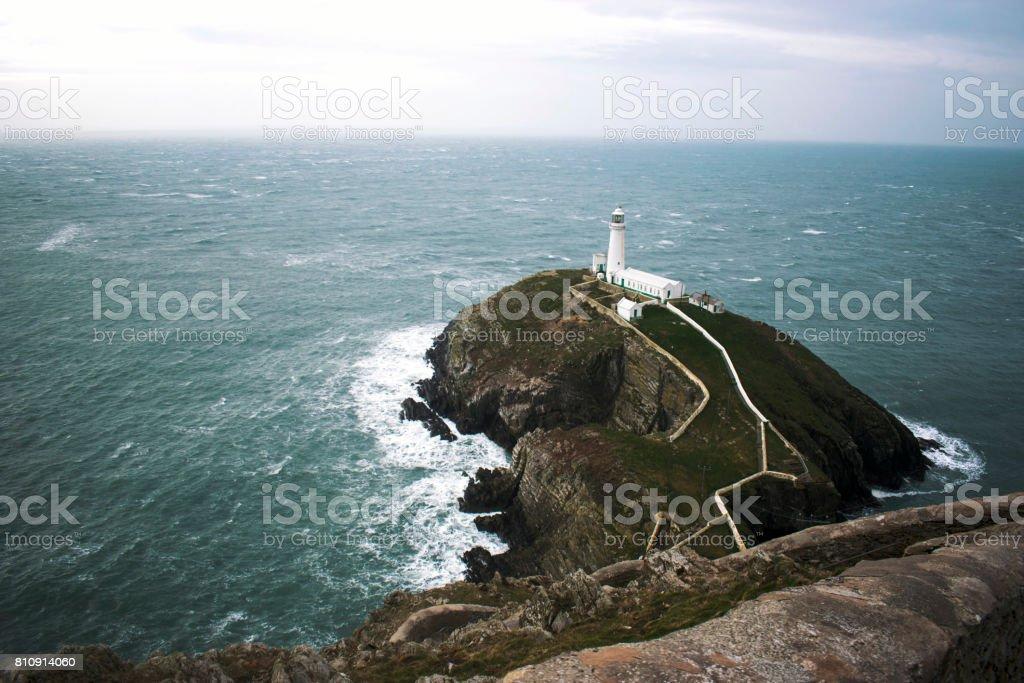 Storm Crusher Lighthouse stock photo