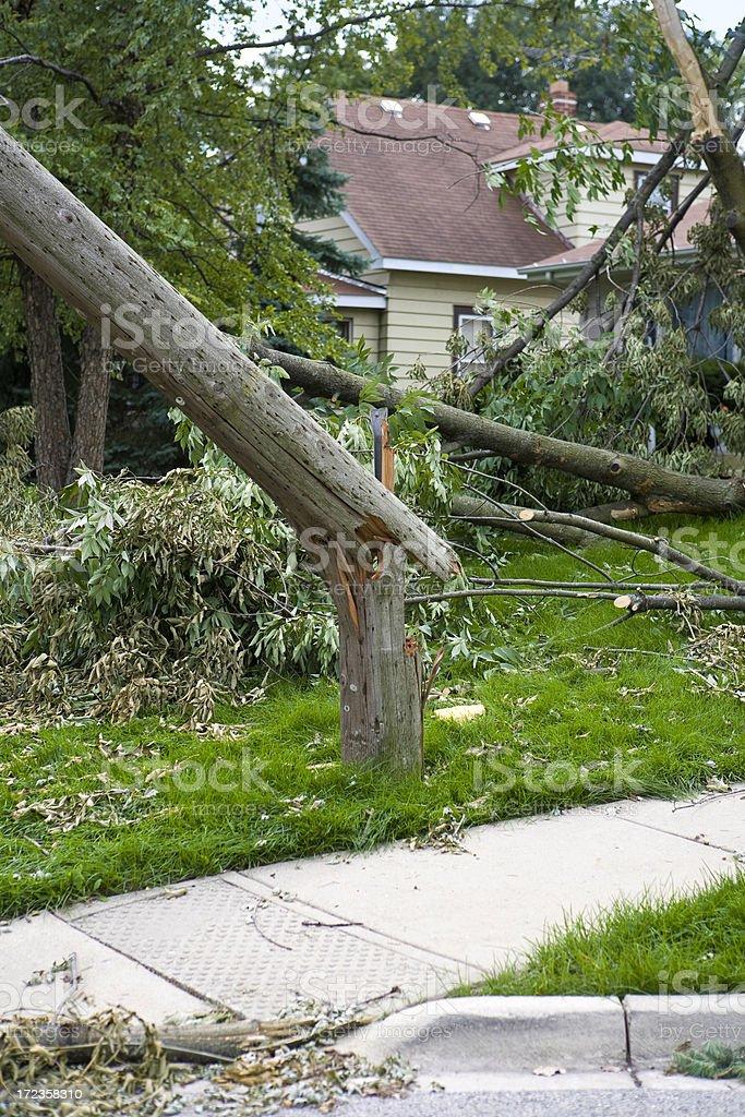 storm damage 5 royalty-free stock photo