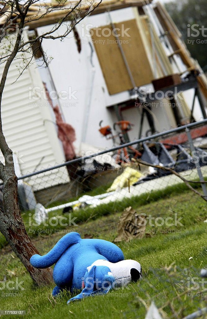 Storm damage royalty-free stock photo