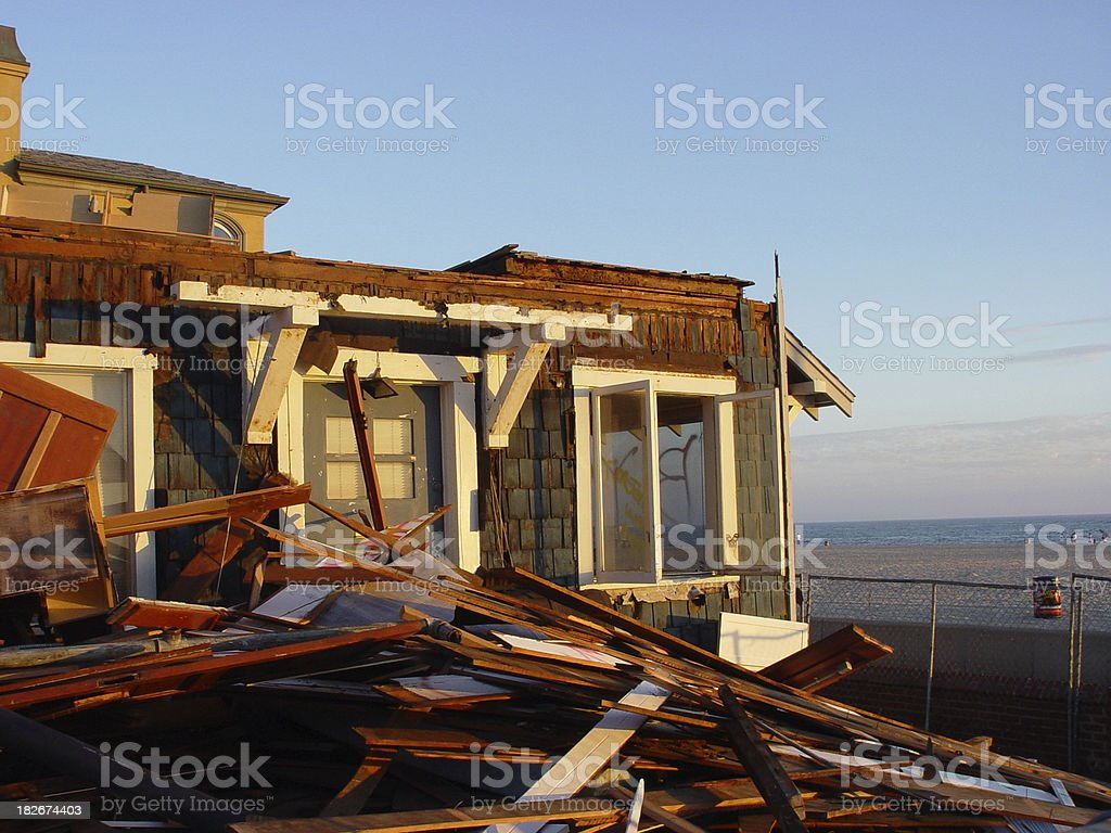 Storm Damaged Home royalty-free stock photo