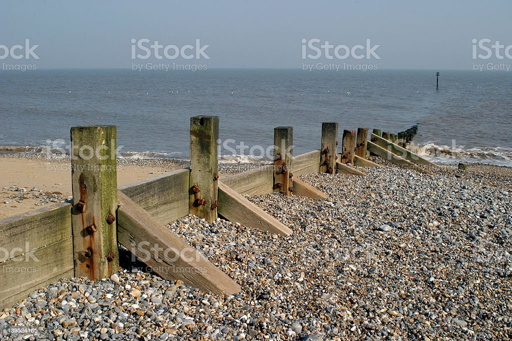 Storm Defences royalty-free stock photo