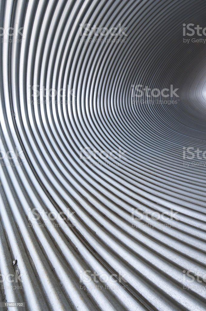 Storm drain interior royalty-free stock photo