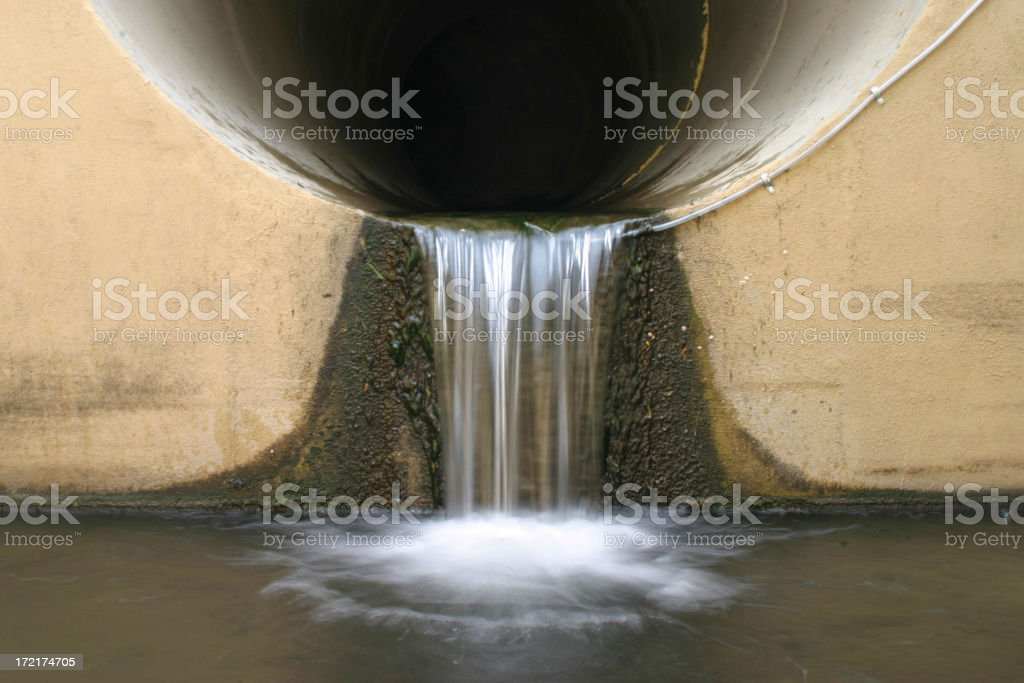 Storm Drain Outfall stock photo